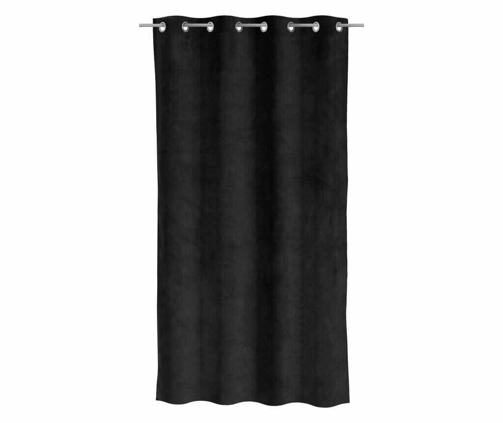 Draperie Velvet Black 140x260 cm - Casa Selección, Negru la pret 159.99 lei
