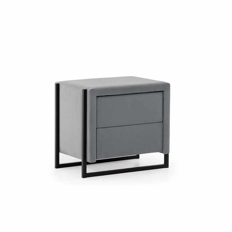 Noptiera tapitata cu stofa, 2 sertare, Soft Loft, l53xA37xH46 cm la pret 843 lei