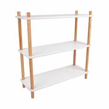 Etajeră cu picioare din bambus Leitmotiv Cabinet Simplicity, 80 x 82.5 cm, alb la pret 634 lei