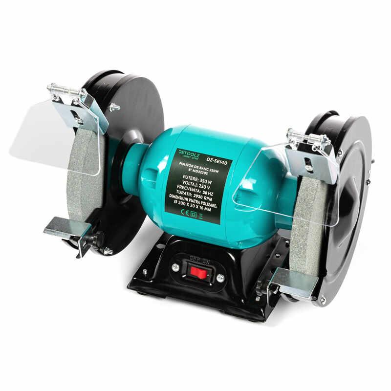 Polizor de banc Detoolz, 350 W, 8 inch, 2950 RPM, disc 200 mm, motor electric la pret 223 lei