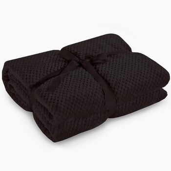 Pătură din microfibră DecoKing Henry, 220 x 240 cm, negru la pret 219 lei