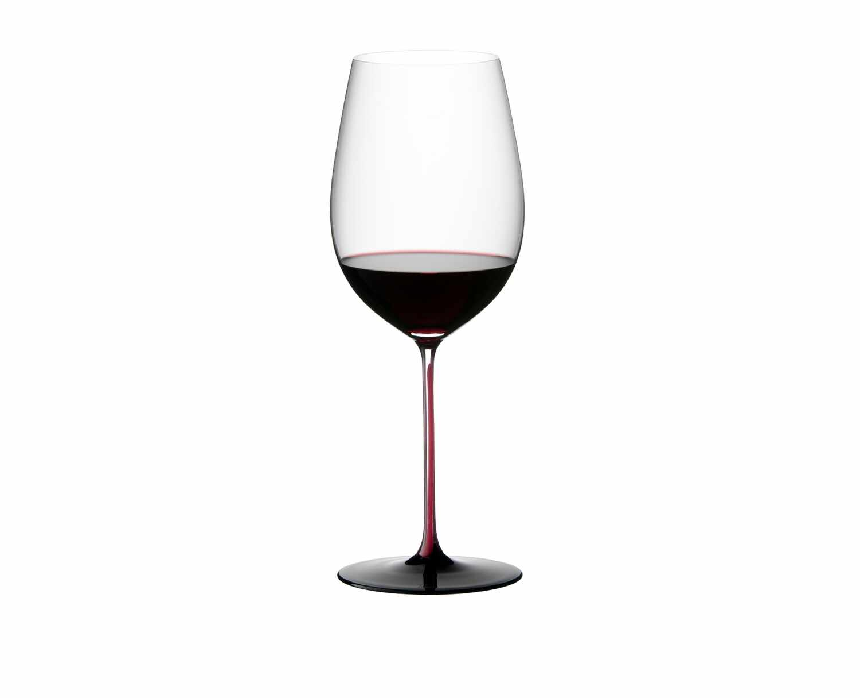 Pahar pentru vin, din cristal Black Series Bordeaux Grand Cru Burgundy / Negru, 860 ml, Riedel la pret 536 lei