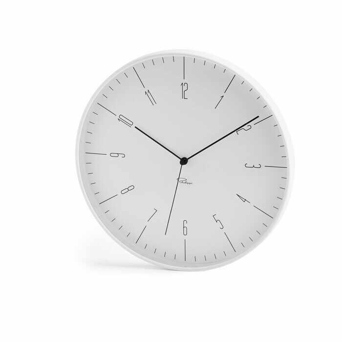 Ceas de perete Cara, metal, alb, 30 x 30 x 3,8 cm la pret 280 lei