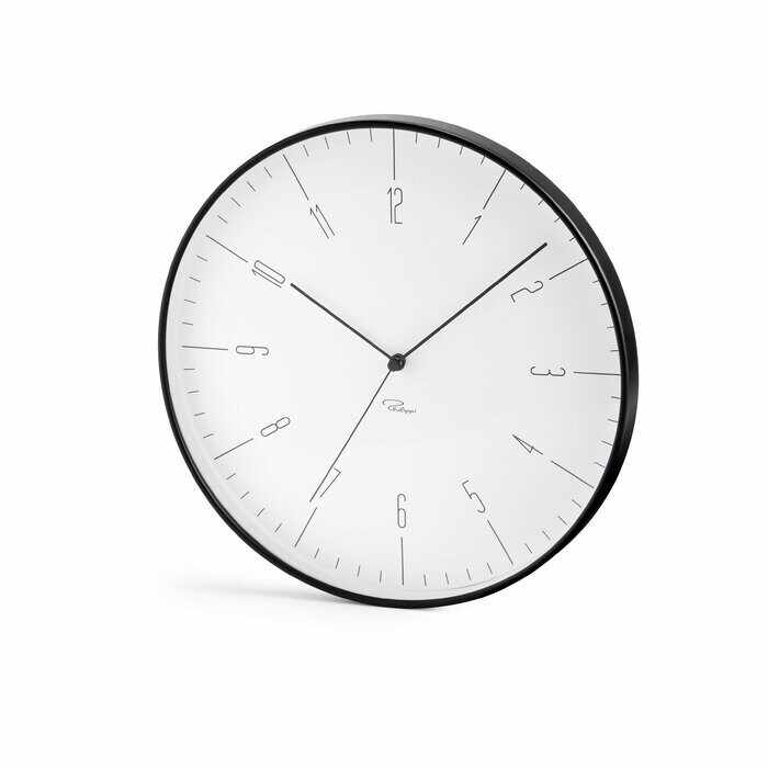 Ceas de perete Cara, metal, alb/negru, 30 x 30 3,8 cm la pret 280 lei
