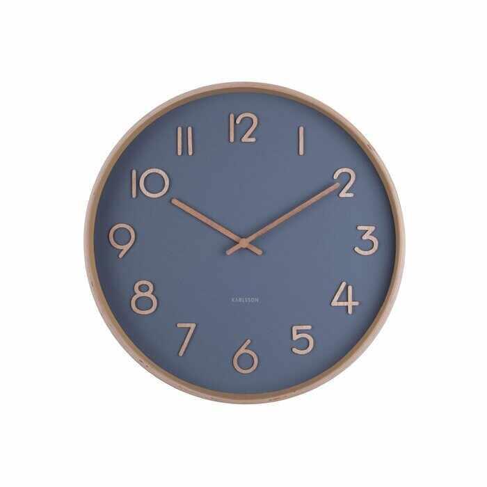 Ceas de perete Karlsson Pure, lemn/sticla, 40 x 40 x 4,5 cm la pret 270 lei