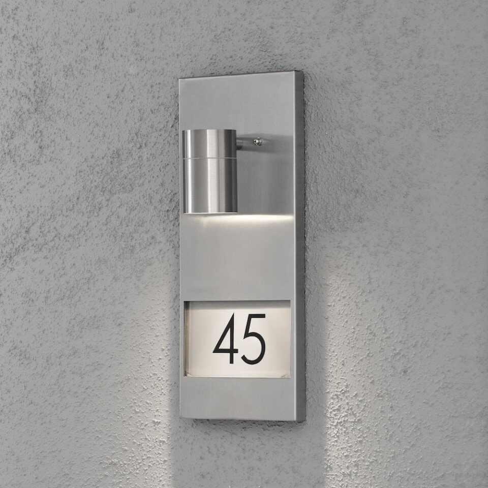 Aplica de exterior Modena, metal, argintie, 16 x 41 x 11 cm la pret 183.75 lei
