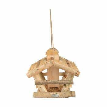 Hrănitor lemn pentru păsări Esschert Design, înălțime 27,5 cm la pret 183 lei