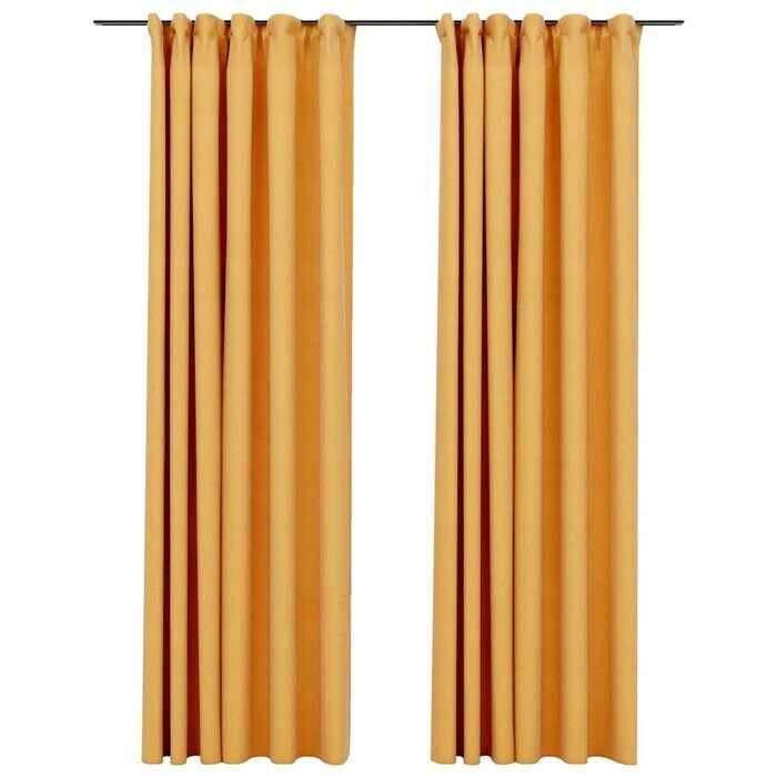 Set de 2 draperii Cezar, galbene, 140 x 245 cm la pret 545 lei