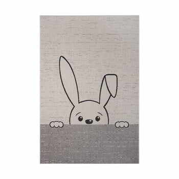 Covor copii Ragami Bunny, 80 x 150 cm, gri la pret 174 lei