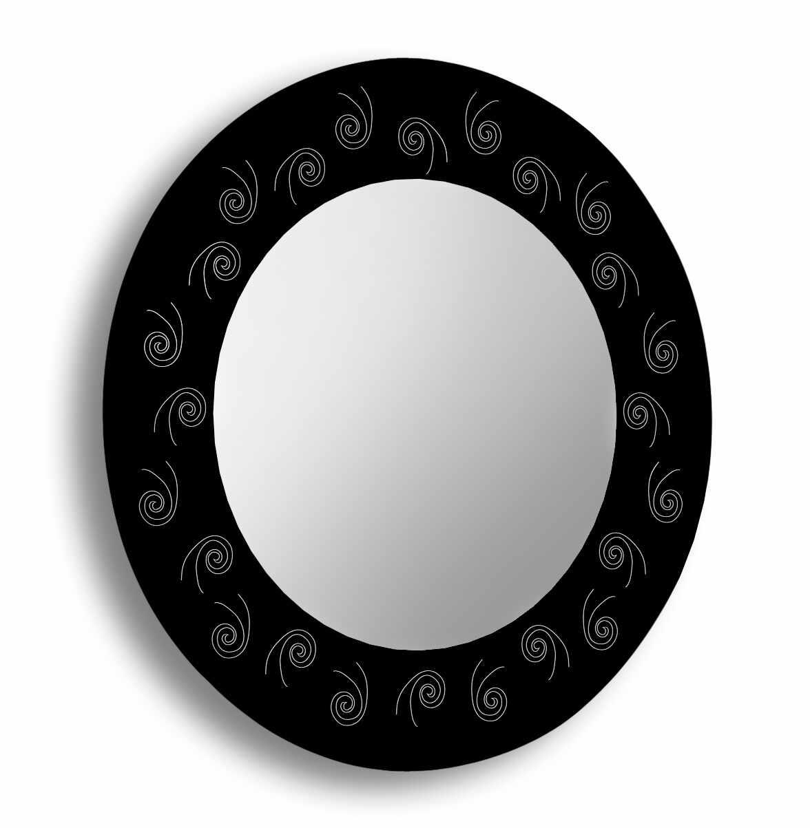 Oglinda baie cu rama printata si sablata Raia 60 cm la pret 289.61 lei
