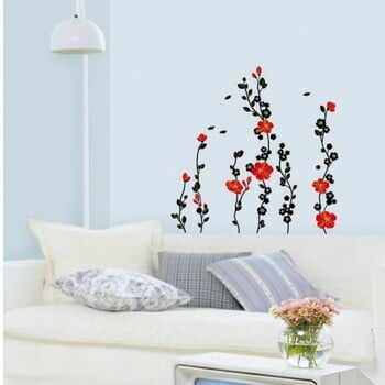 Autocolant Fanastick Red Tree and Flowers la pret 69 lei