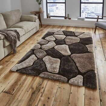 Covor țesut manual Think Rugs Noble House, 120 x 170 cm, bej - maro
