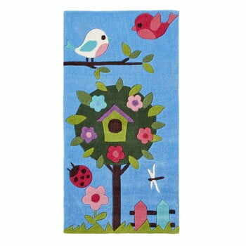 Covor țesut manual Think Rugs Tree Hong Kong, 70 x 140 cm, albastru la pret 296 lei