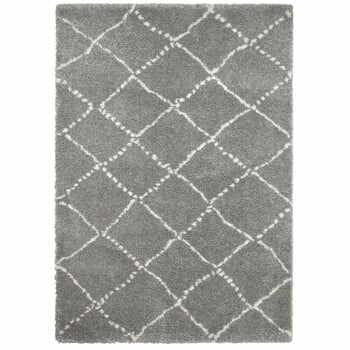 Covor Think Rugs Royal Nomadic Grey & Cream, 160 x 230 cm