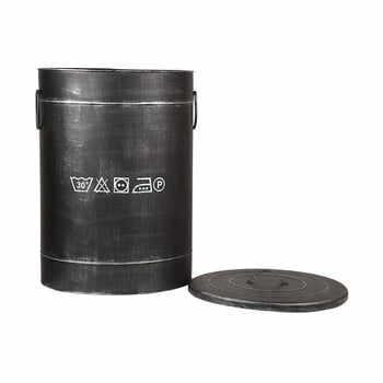 Coș metalic pentru rufe LABEL51, ⌀40cm, negru la pret 538 lei