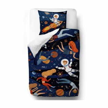 Lenjerie de pat din bumbac Mr. Little Fox Space Adventure, 140 x 200 cm la pret 349 lei