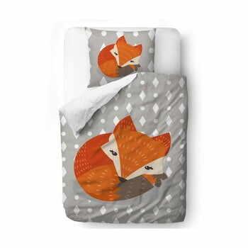 Lenjerie de pat din bumbac pentru copii Mr. Little Fox Good Rest, 100 x 130 cm la pret 271 lei