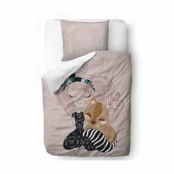 Lenjerie de pat din bumbac satinat pentru copii Mr. Little Fox Two Princesses, 140 x 200 cm la pret 349 lei