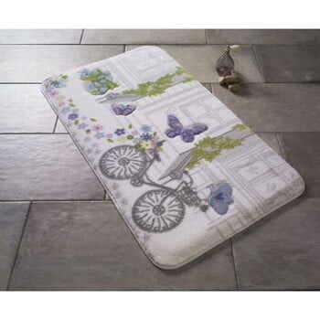 Covoraş de baie Confetti Bathmats Spilled Flowers, 80 x 140 cm, violet la pret 266 lei