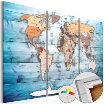 Hartă decorativă a lumii Bimago Sapphire Travels 120 x 80 cm la pret 332 lei