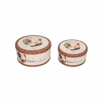 Set 2 recipiente de stocare din tablă Antic Line Gallo la pret 163 lei