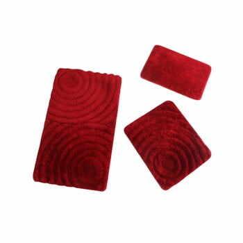 Set 3 covoare baie Fading, roșu la pret 249 lei
