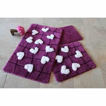 Set 3 covoare de baie Violet Soft la pret 249 lei