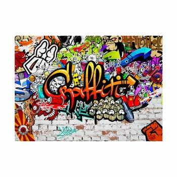 Tapet în format mare Bimago Colourful Graffiti, 300x210cm la pret 396 lei