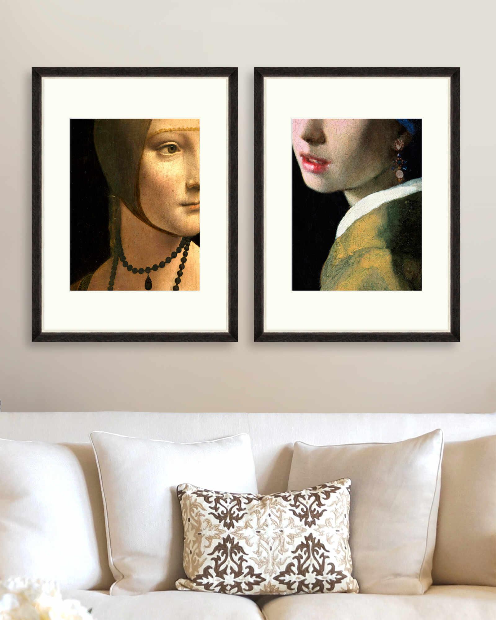 Tablou 2 piese Framed Art Renascentist Portrait Details la pret 1187 lei