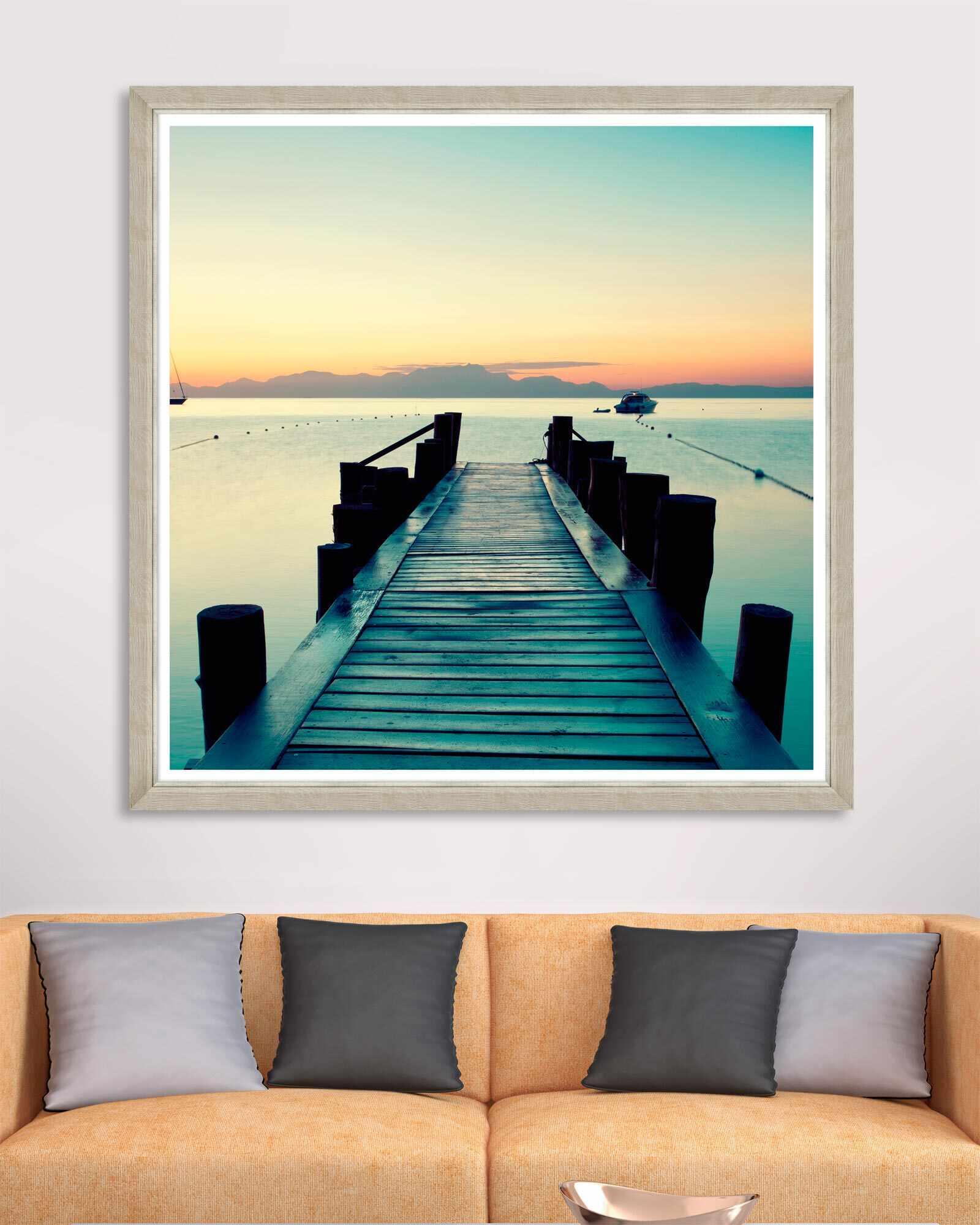 Tablou Framed Art Sunset Pier la pret 911 lei