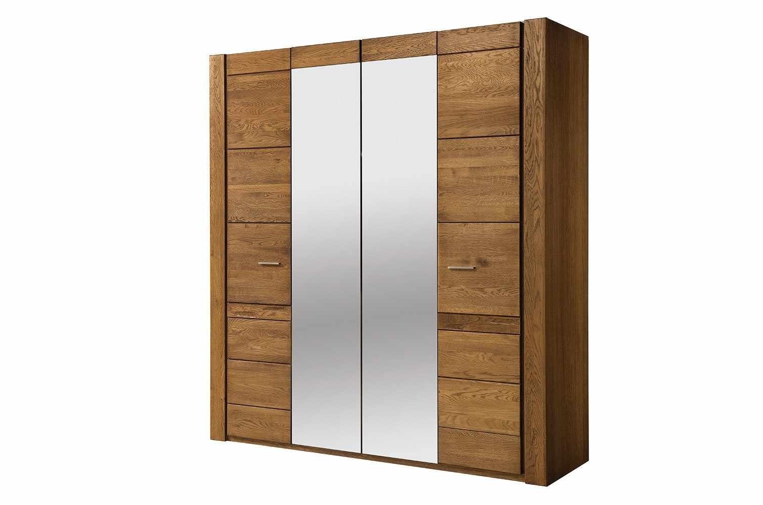 Dulap din furnir si pal, cu 4 usi si oglinda Velvet 77 Stejar Rustic, l205xA60xH225 cm la pret 8269 lei