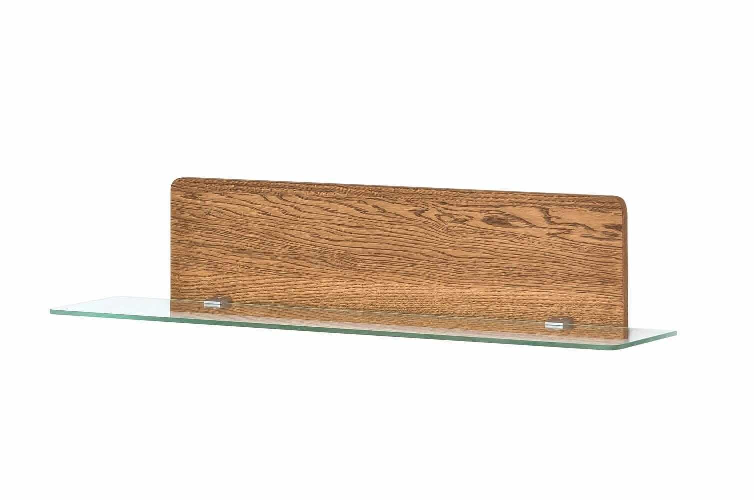 Etajera din furnir si sticla cu LED inclus Montenegro 34 Small Stejar Rustic, l105xl23xH23 cm la pret 835 lei