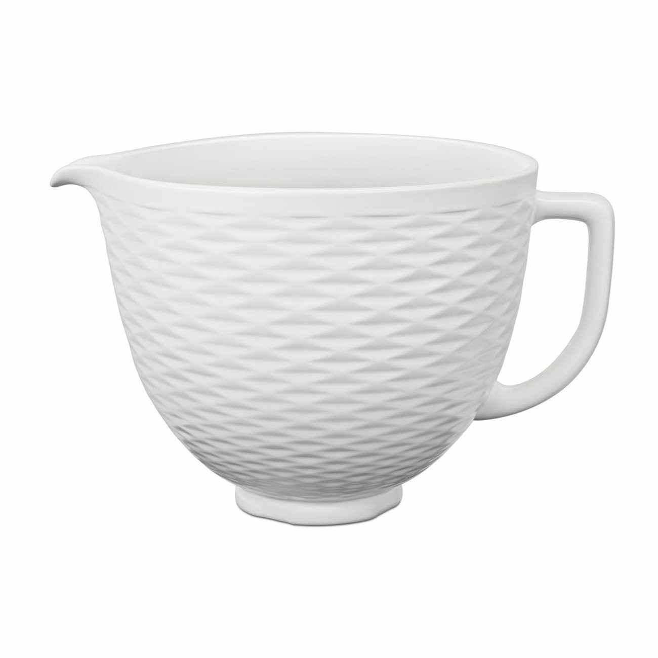 Bol din ceramica 5KSM2CB5TLW, 4,8 L, White, KitchenAid la pret 455 lei