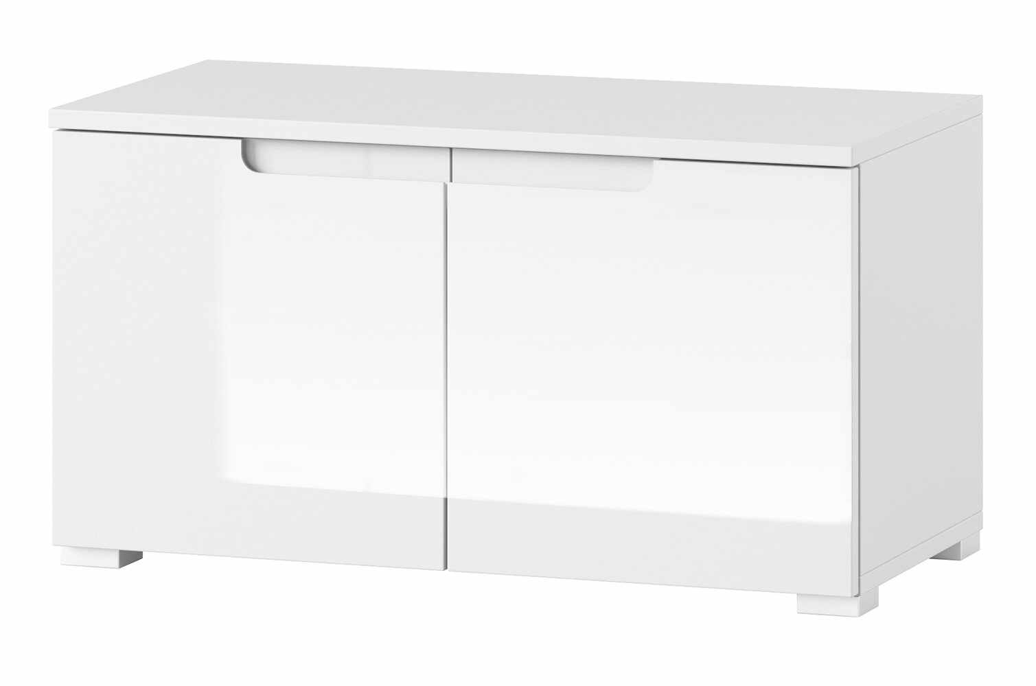 Cabinet din pal si MDF cu 2 usi Small Gabrielle 18 Alb, l79xA40xH43 cm la pret 419 lei