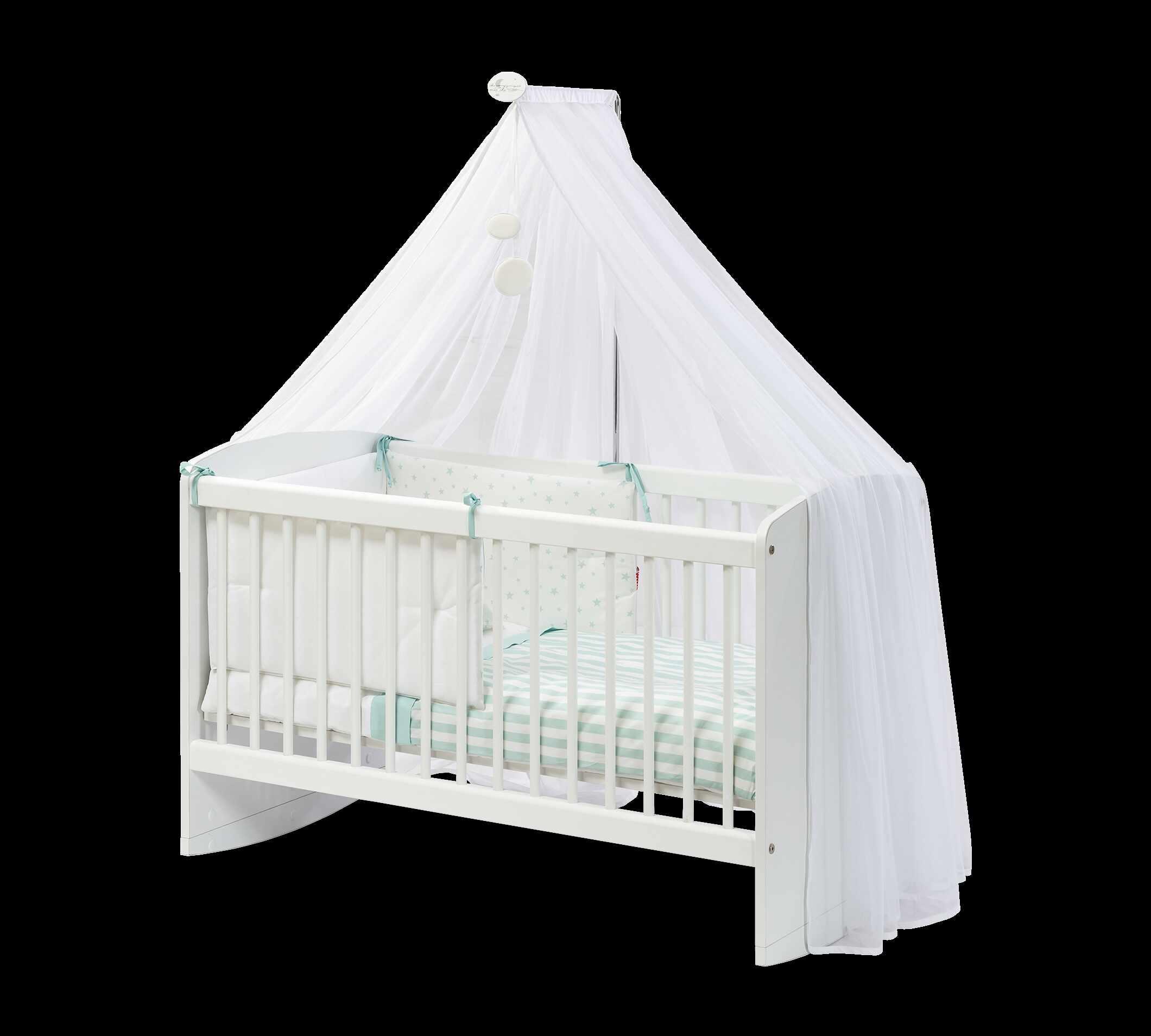 Patut din pal cu sistem de leganare, pentru bebe Cradle Baby Alb, 100 x 50 cm la pret 832 lei