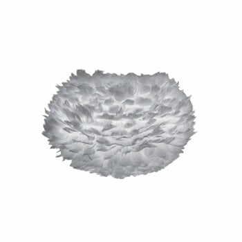 Abajur cu pene de gâscă VITA Copenhagen EOS, Ø 45 cm, gri la pret 681 lei