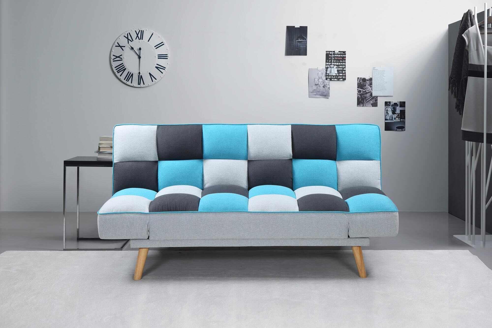 Canapea extensibila tapitata cu stofa, 2 locuri Bojan Multicolor, l179xA90xH87 cm la pret 1260 lei