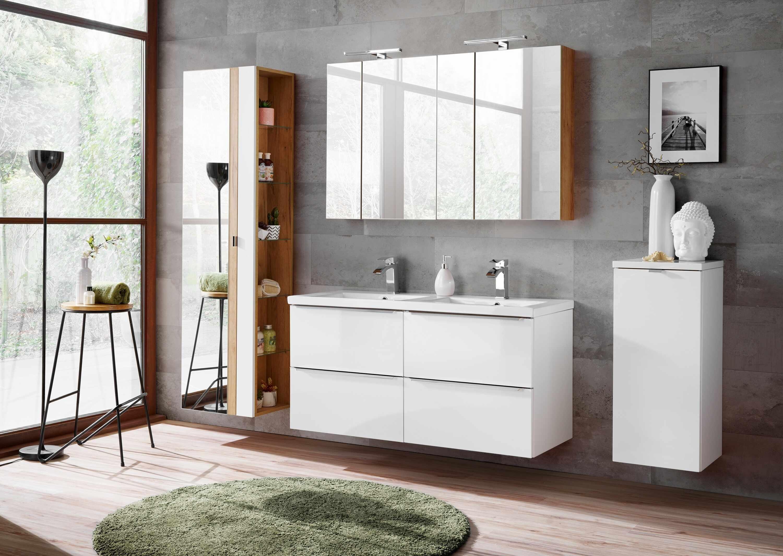 Set Mobilier pentru baie, 7 piese, Capri White XL la pret 6920 lei