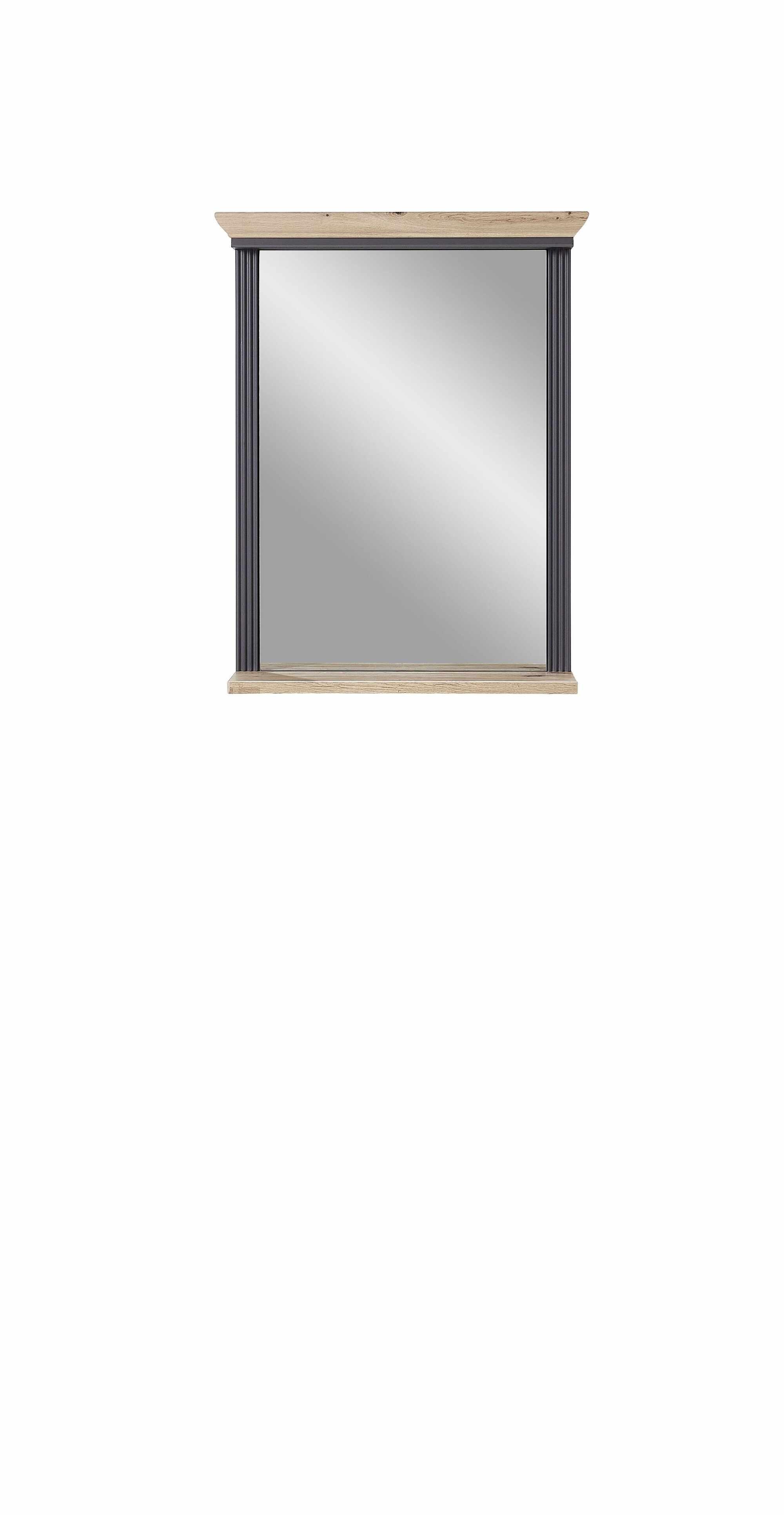 Oglinda decorativa cu rama din MDF, Jessie Grafit, l65xH83 cm la pret 399 lei