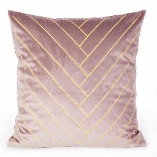 Set 2 perne decorative cu huse detasabile Mandy Velvet Roz, 45 x 45 cm la pret 153 lei