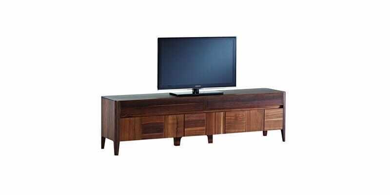 Comoda TV din pal cu 2 sertare si 2 usi Noble Small Nuc, l211,5xA48,7xH57,8 cm la pret 4184 lei