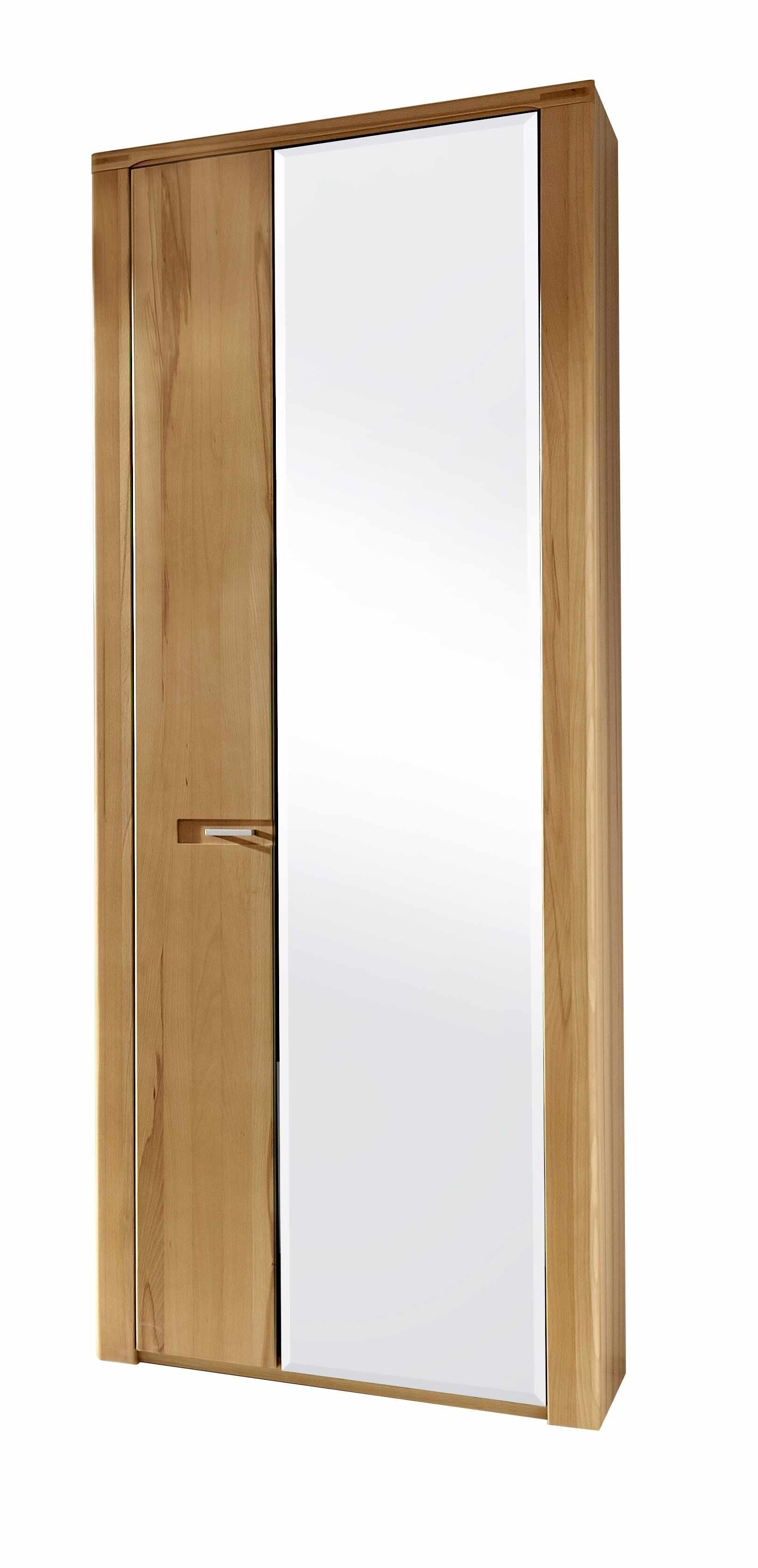 Dulap hol din pal cu oglinda cu 2 usi, Natur Plus, l74xA40xH200 cm la pret 2216 lei