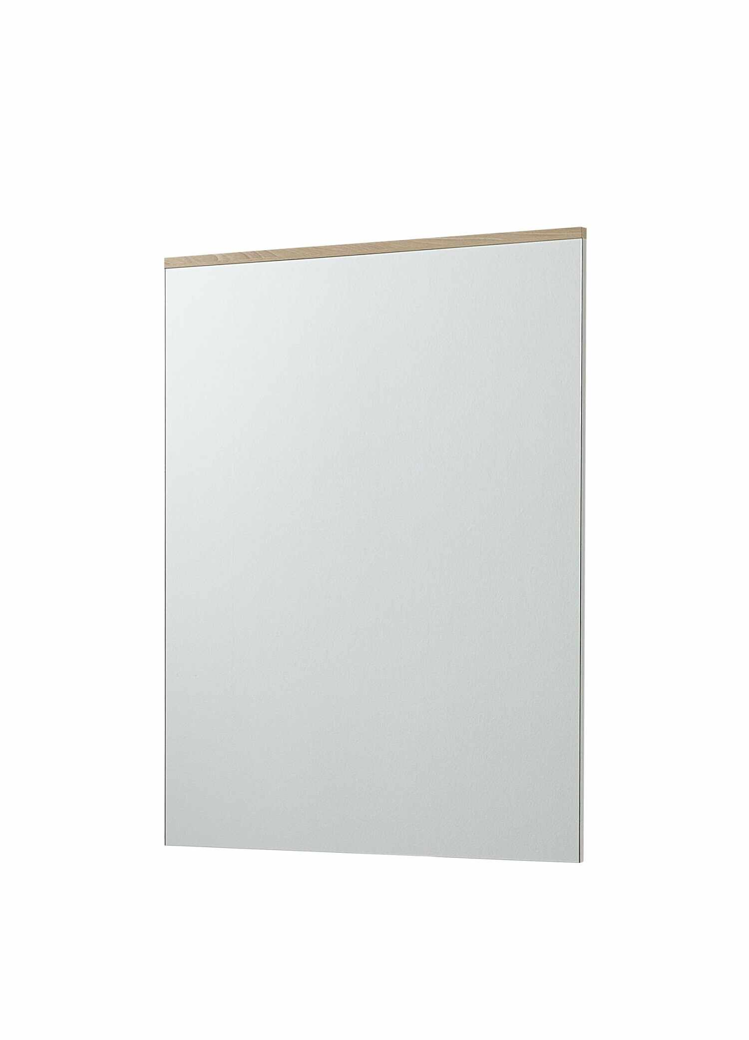 Oglinda decorativa din MDF, Renos Alb / Fag, l65xH88 cm la pret 418 lei