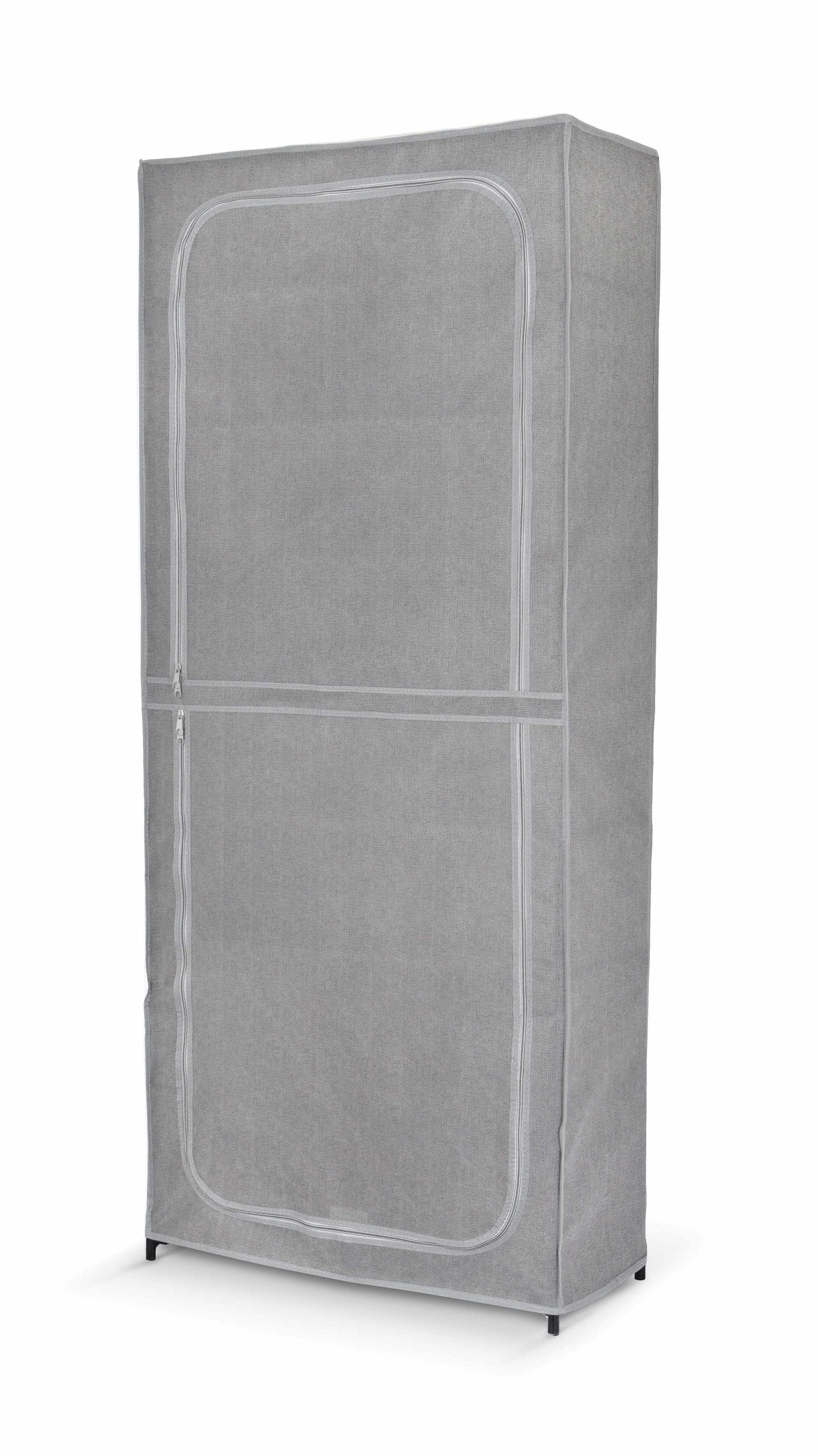 Suport textil pentru incaltaminte, 7 rafturi, Clara II Gri, l68xA30xH160 cm la pret 153 lei