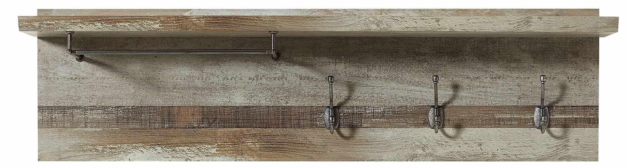Cuier cu sina si etajera din pal Bazna Small Natur / Gri inchis, l130xA28xH38 cm la pret 484 lei