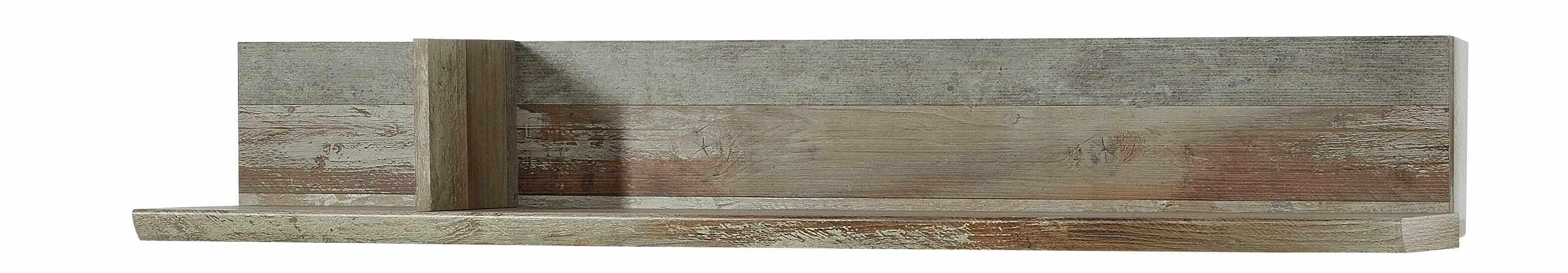 Etajera suspendata din pal Bazna Natur / Gri inchis, l130xA22xH20 cm la pret 326 lei