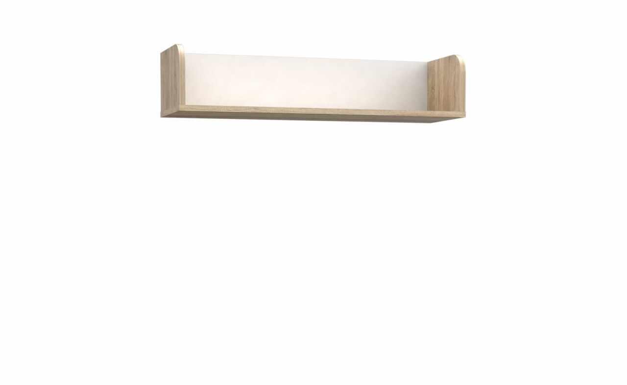 Etajera suspendata din pal Winer Stejar Sonoma / Alb, l79,9xA25,8xH17,5 cm la pret 187 lei