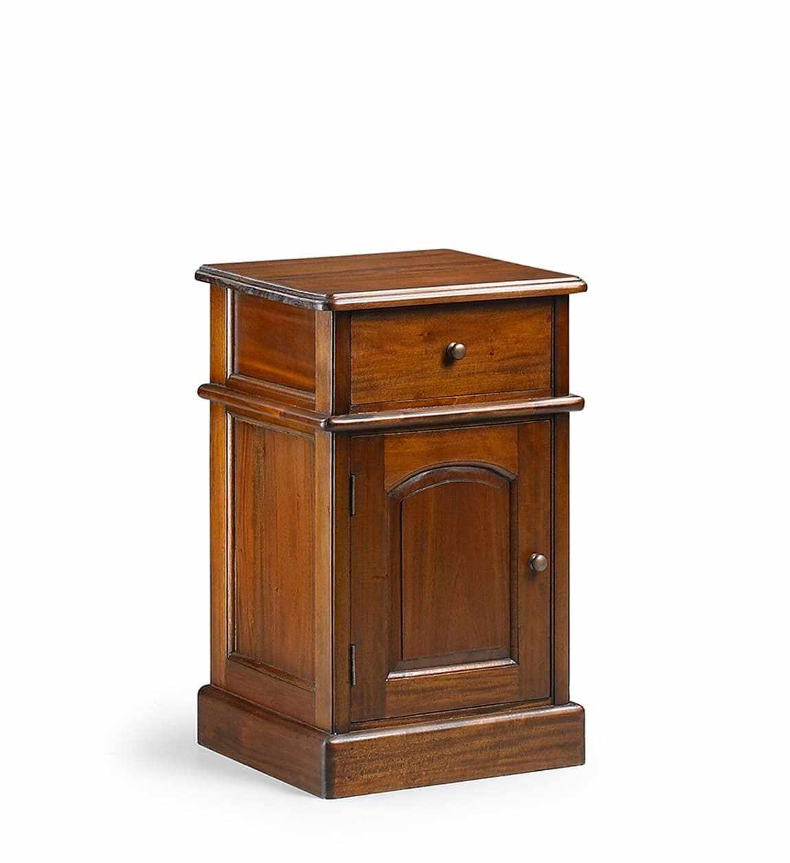 Noptiera din lemn cu 1 sertar si 1 usa, Vintage Nuc, l40xA40xH65 cm la pret 788 lei
