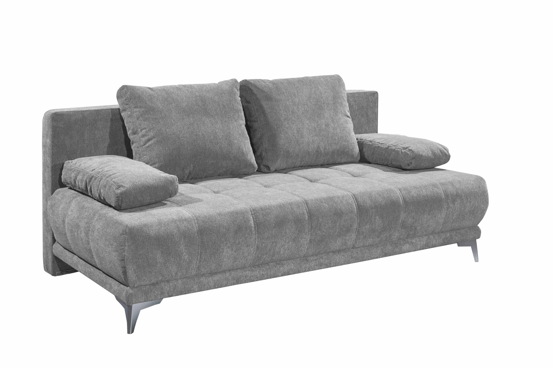 Canapea extensibila cu lada de depozitare, tapitata cu stofa, 3 locuri, Jenifer Gri deschis, l203xA101xH86 cm la pret 2979 lei