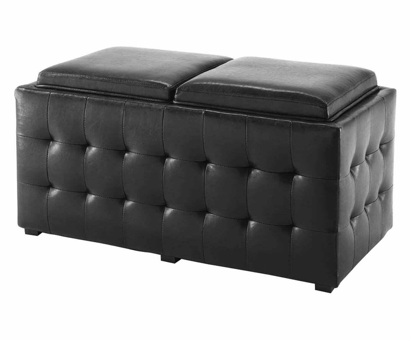 Lada de depozitare Dizzy Double Black, l90xA46xH45 cm la pret 1353 lei